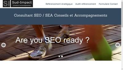 Site internet de Sud-Impact