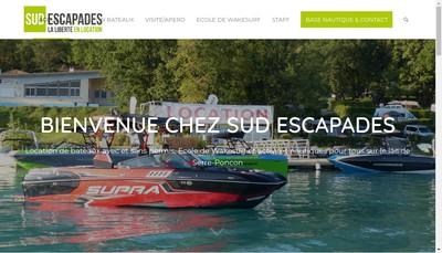 Site internet de Sud Escapades