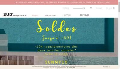 Site internet de Sud Express