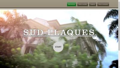 Site internet de Sud Plaques