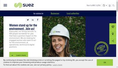 Site internet de Suez Groupe