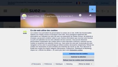 Site internet de Suez Rv Loire Metaux