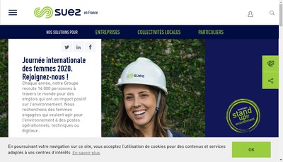 Site internet de Suez Rv France