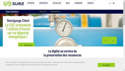Site internet de Suez Smart Solutions