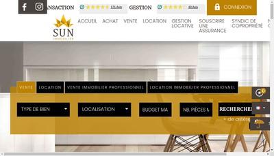 Site internet de Sun Immobilier Transaction