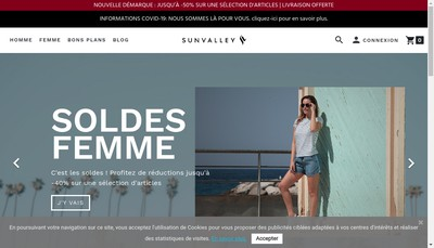 Site internet de Sun Valley