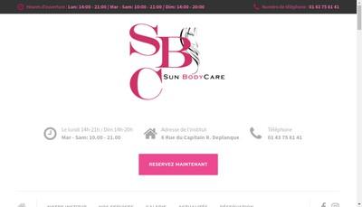 Site internet de Sun Body Care