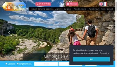 Site internet de Sun Camping