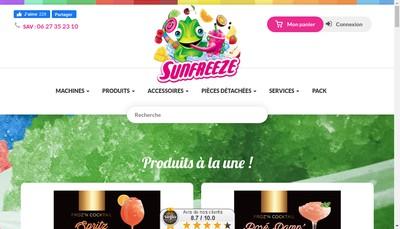 Site internet de Sun Freeze