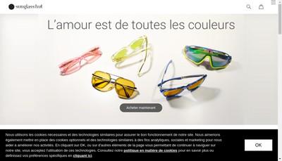 Site internet de Sunglass Hut France