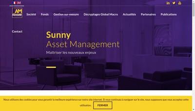 Site internet de Sunny Asset Management