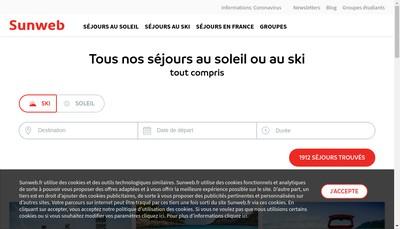 Site internet de Sunweb Group France