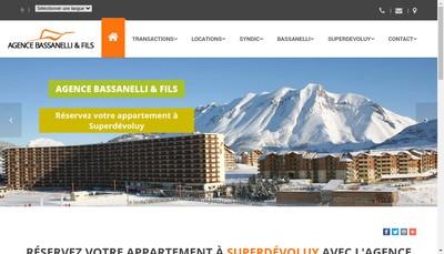 Site internet de Agence Bassanelli Roger et Fils SAS Superdevoluy Gestion