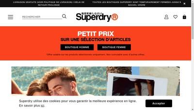 Site internet de Superdry