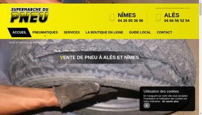 Site internet de Supermarche du Pneu