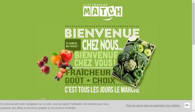 Site internet de Supermarches Match