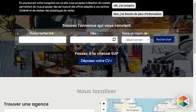 Site internet de Sup Interim