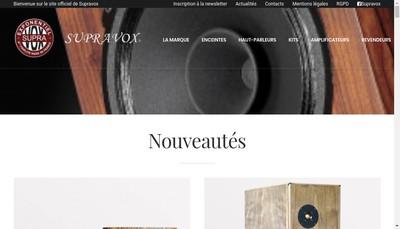 Site internet de Supravox