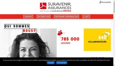 Site internet de Suravenir Assurances