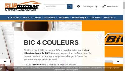 Site internet de Surdiscount