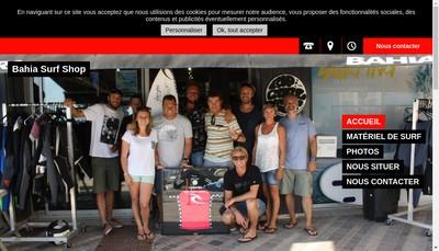 Site internet de Bahia Surf Shop