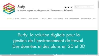 Site internet de Surfy