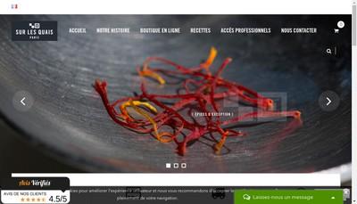Site internet de Sur les Quais