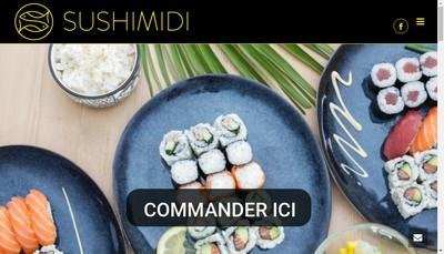 Site internet de Sushi Midi