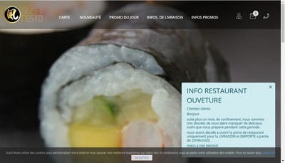 Site internet de Sushi Resto