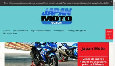 Site internet de Japan Moto