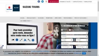 Site internet de Suzuki Automobiles - Tours