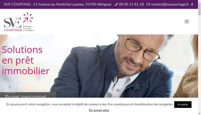 Site internet de Sve Courtage