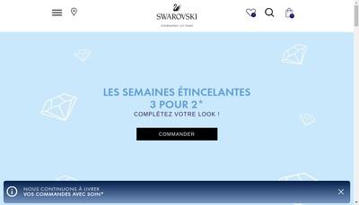 Site internet de Swarovski