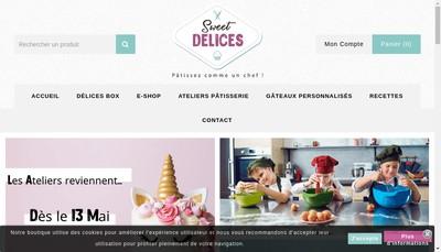 Site internet de Sweet Delices