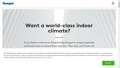 Site internet de Swegon