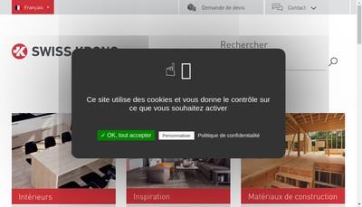 Site internet de Swiss Krono SAS