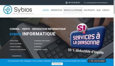 Site internet de Sybios Informatique - Upmotion