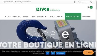Site internet de Syca Distribution