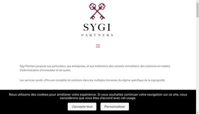 Site internet de Sygi Partners