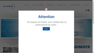 Site internet de Symatese