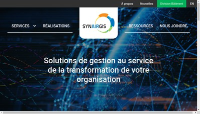 Site internet de Synairgis