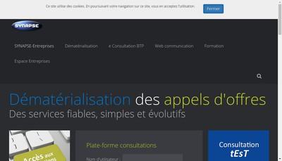 Site internet de Synapse Entreprises