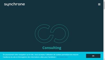 Site internet de Synchrone Groupe