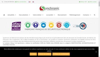 Site internet de Synchronic