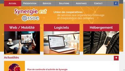 Site internet de Synergie Est @Rsoe - Union de Cooperatives de Services aux Organismes d'Elevage et d'Exploitation des Donnees