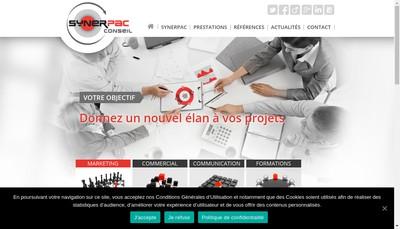 Site internet de Synerpac Conseil