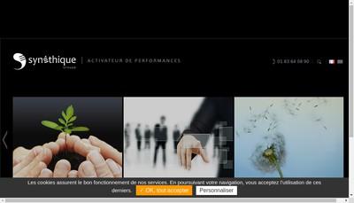 Site internet de Synethique