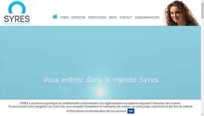 Site internet de Syres