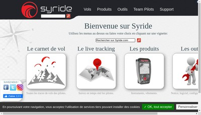 Site internet de Syride