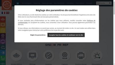 Site internet de Syscom Electronique - Syscom Prorep